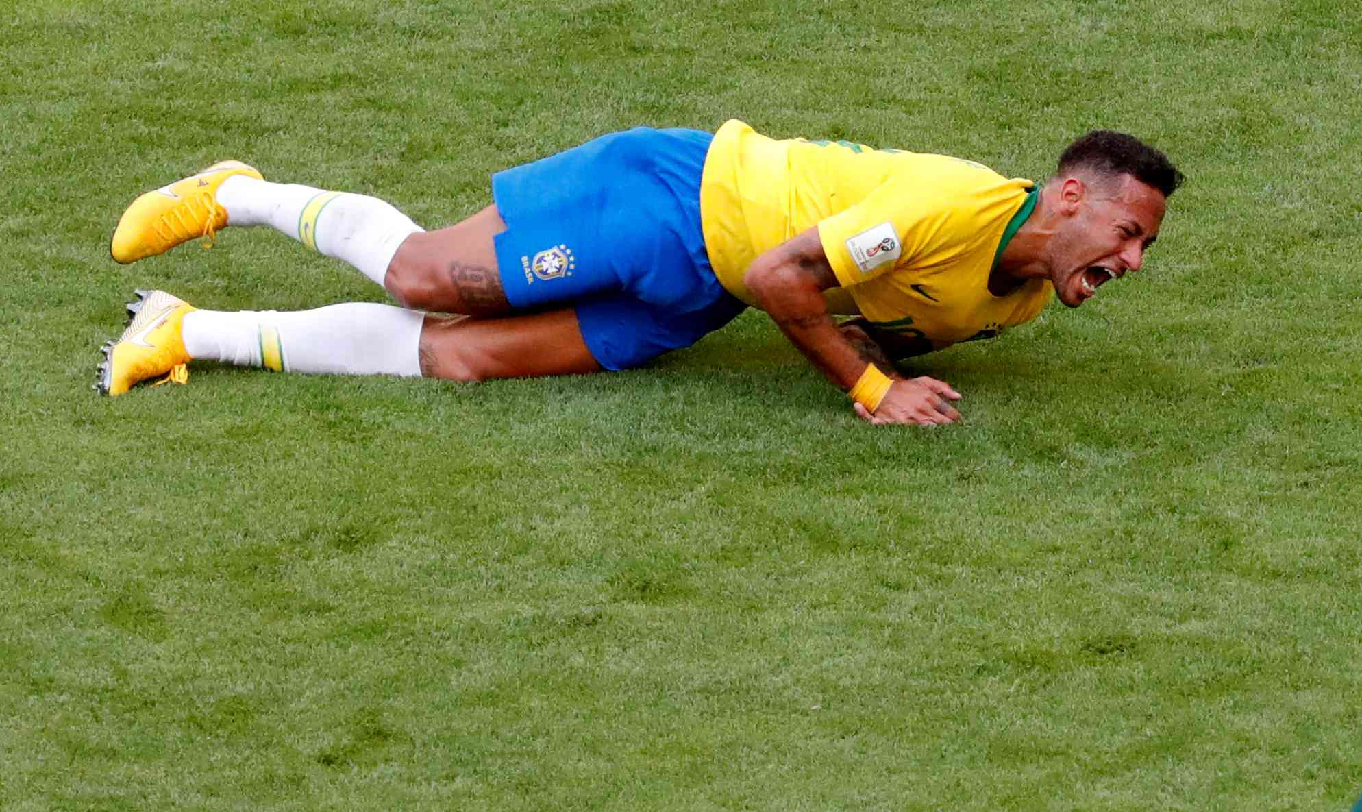 Brazil's Neymar spent a lot of time on rolling on the pitch during the Fifa World Cup and became a very popular internet meme (Reuters)