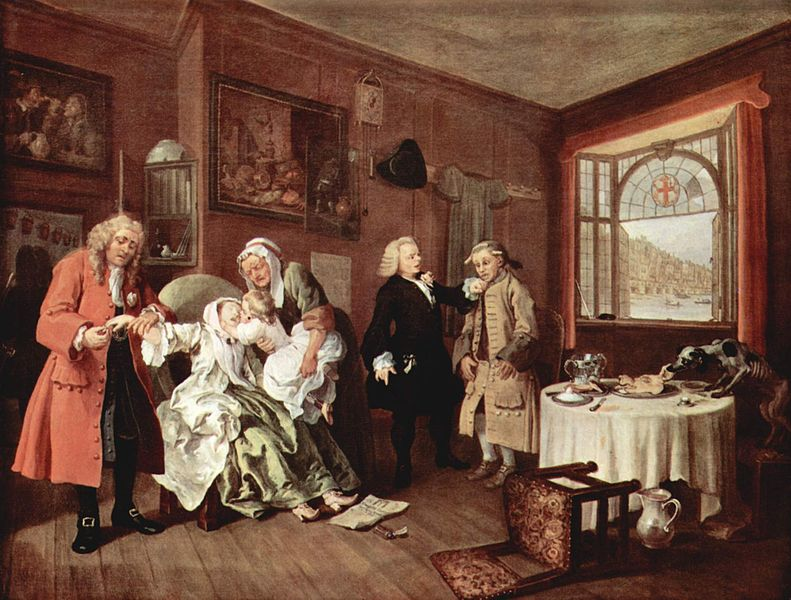 Marriage à-la-mode, by William Hogarth.