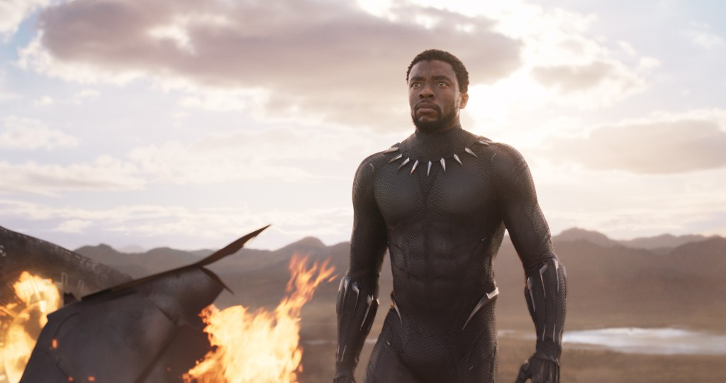 Chadwick Boseman in Black Panther. Courtesy Marvel Studios.
