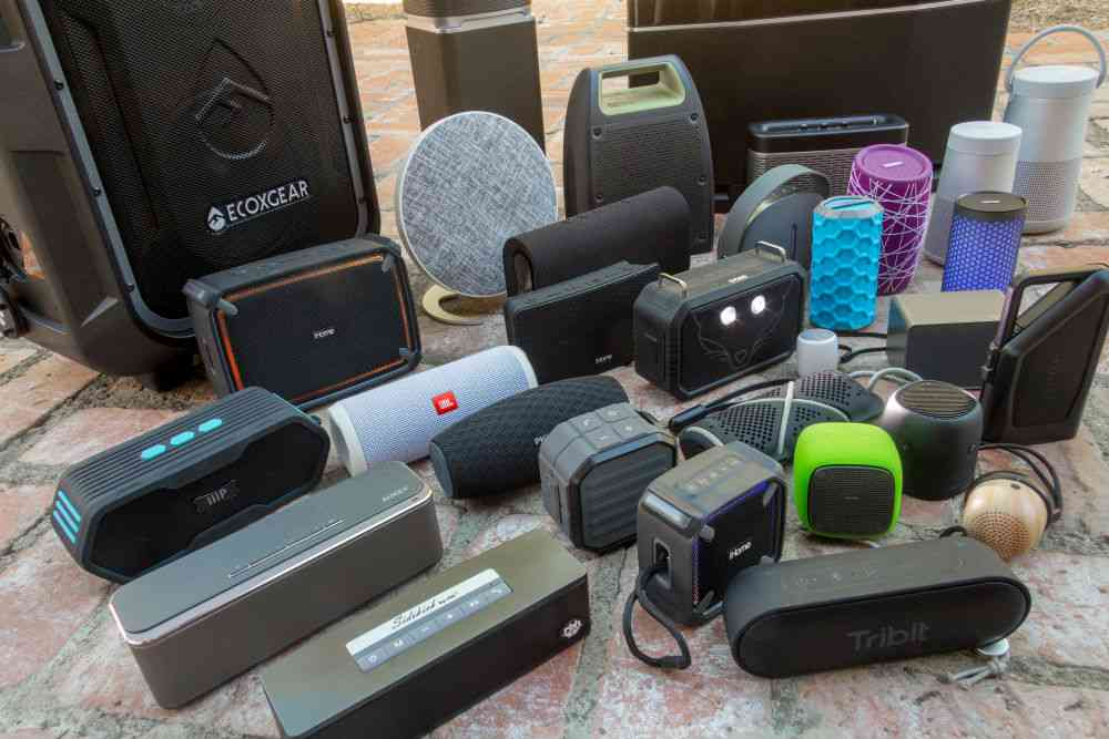 Some of the portable Bluetooth speakers we tested in late 2017. Photo credit: Brent Butterworth.