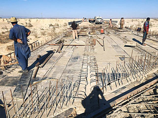 Work underway to repair and reconstruct Bridge 1, which lost two deck slabs in an insurgents' attack on November 30, 2016 | NHA