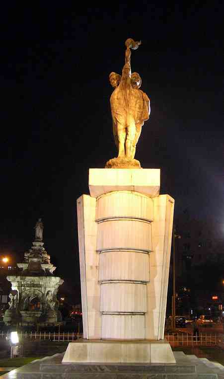 Hutatma Chowk memorial in Mumbai. Credit: Elroy Serrao/CC BY-SA 2.0/Wikimedia Commons