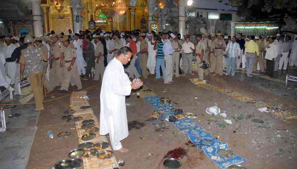 Khwaja Mohinuddin Chisti's dargah at Ajmer just after the blast in 2007 in which three people were killed. (Photo credit: HT).