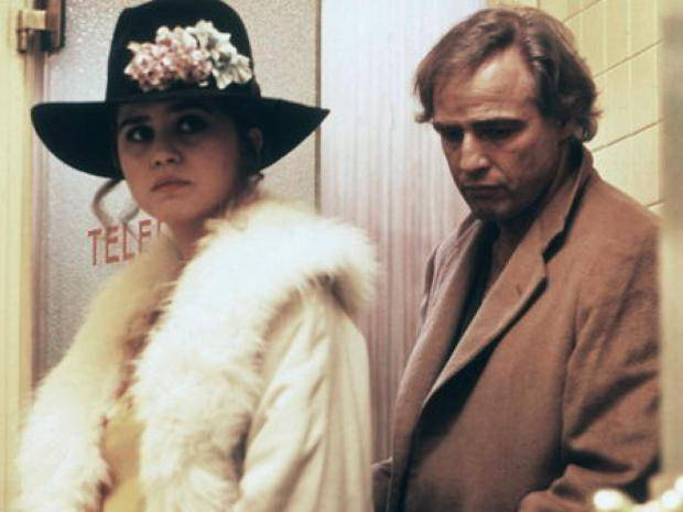 Marlon Brando and Maria Schneider in Last Tango in Paris.