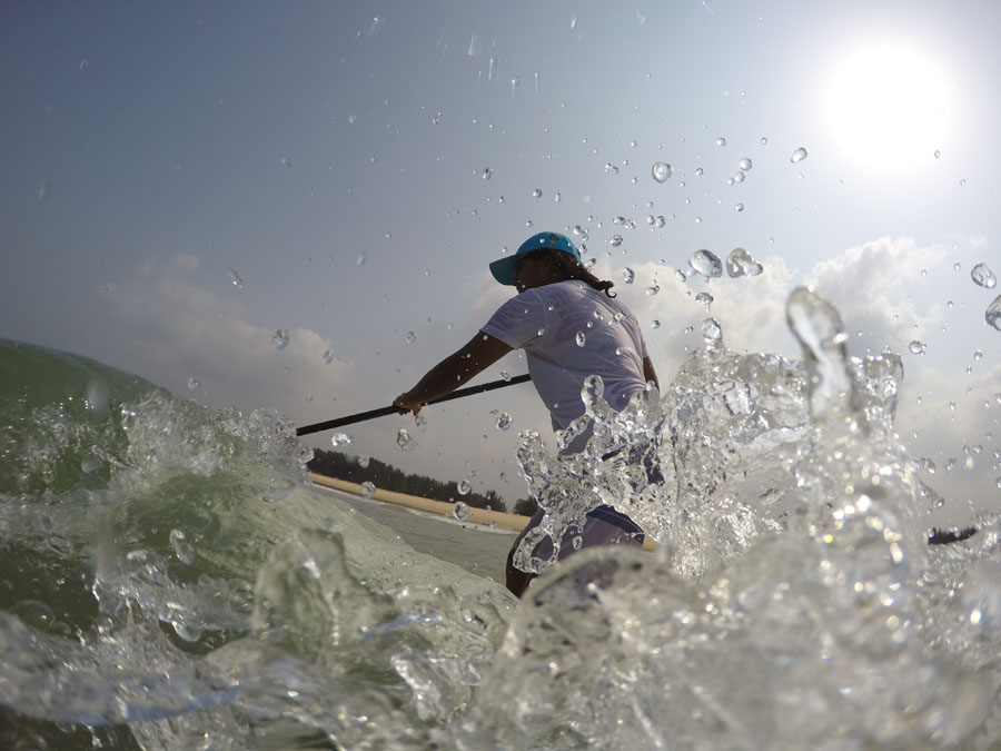 """I'm an ocean addict and I love being in the water"" - Tanvi Jagadish. Image credit: Surfing Federation of India"