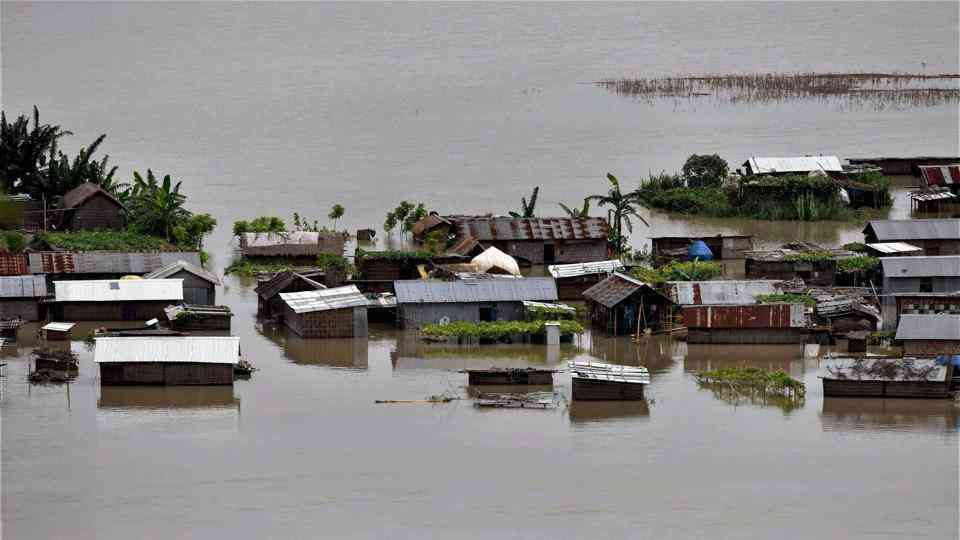 Floods are an annual event for communities living alongside the Brahmaputra. (Credit: PTI)