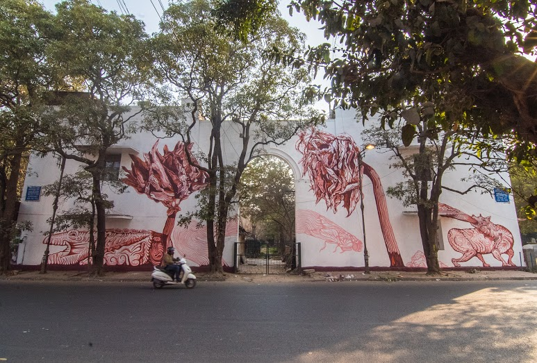 'Dead Dahlias' by Amitabh Kumar, Block 10, Lodhi Colony. (Photograph by Akshat Nauriyal).