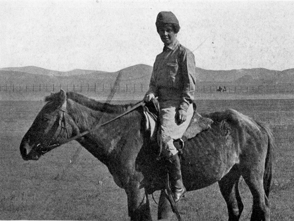 "Yvette Borup Andrews, Photographer of the Expedition"", featured in Across Mongolian Plains (1921)."