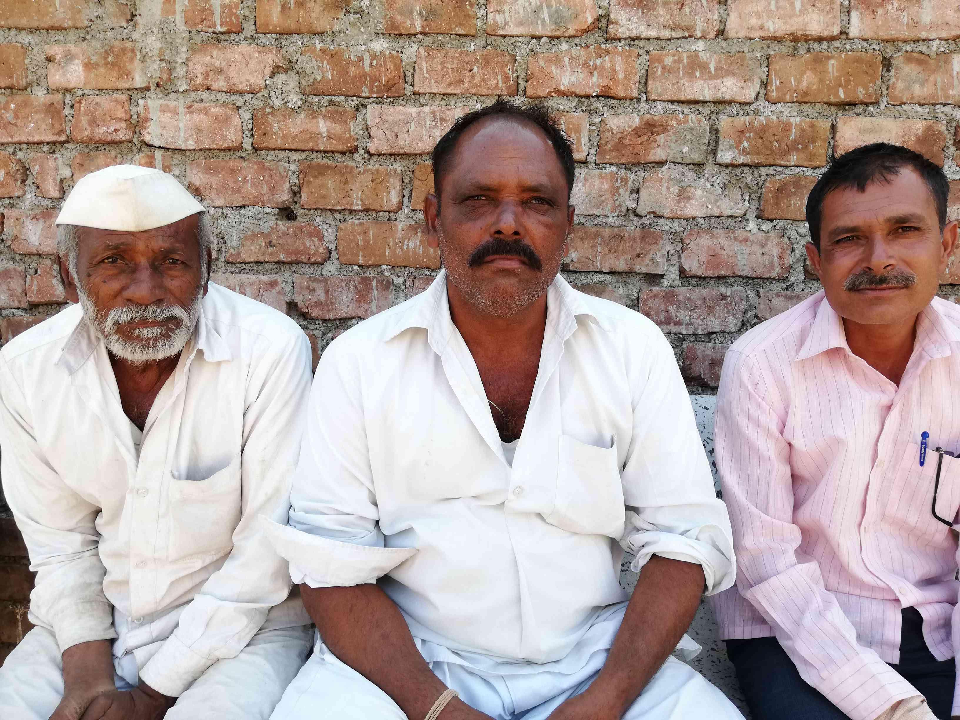 Ambadas Palve (centre) has faith in the BJP. (Photo credit: Mridula Chari).