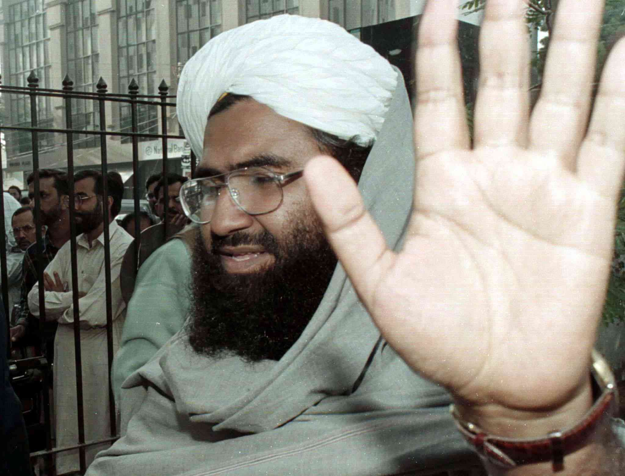 Masood Azhar in Islamabad in 2000. (Photo credit: Zahid Hussein/Reuters).