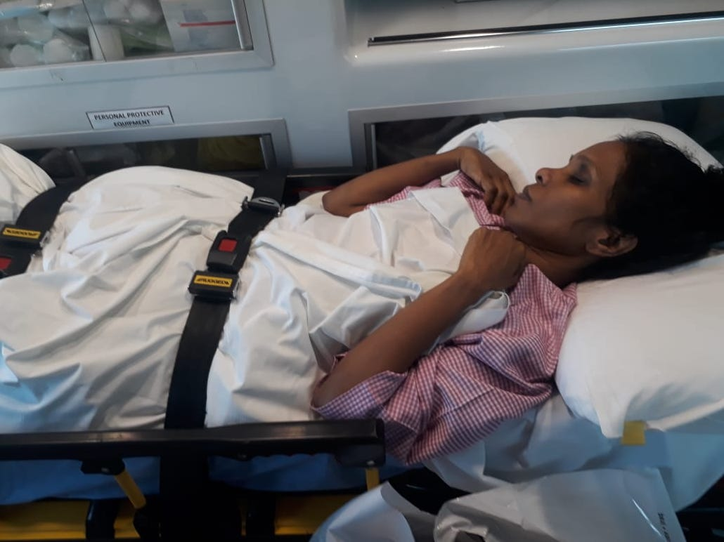 Sheeja Das underwent two emergency surgeries at a government hospital in Oman.