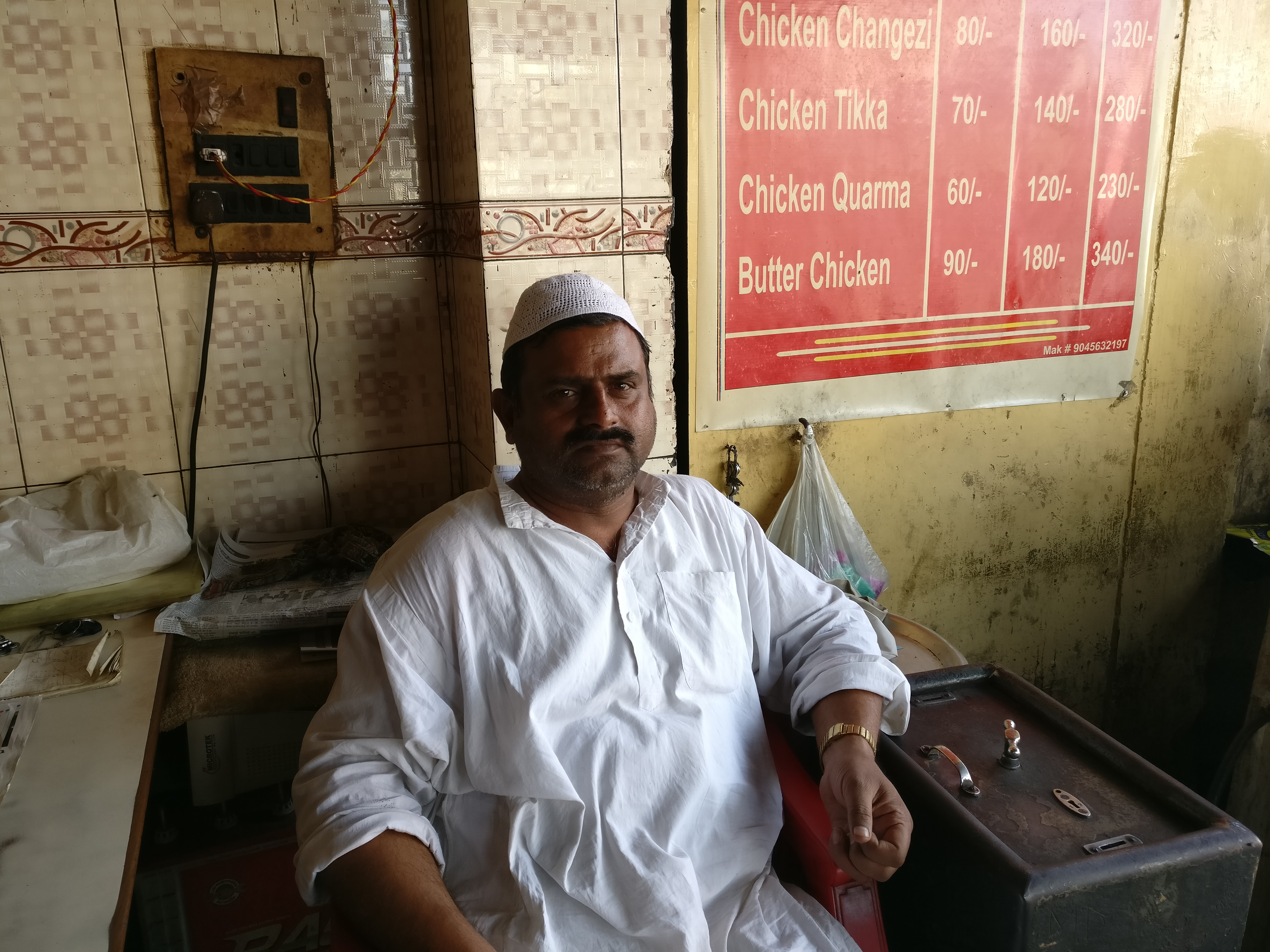 Owner of a small eatery in Aligarh, Mohammad Rashid is struggling to procure enough buffalo meat to match demand