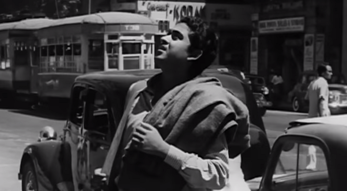 Kishore Kumar in Naukri (1954). Courtesy Bimal Roy Productions.
