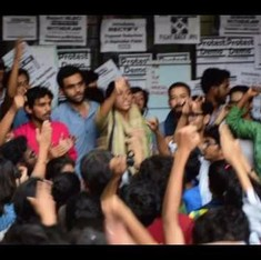 Watch: High drama at JNU on Tuesday, Vice Chancellor 'runs away' from Academic Council meeting
