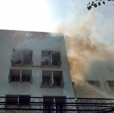 Fire breaks out at The Times of India building in Delhi