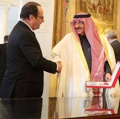 France awards its highest honour to Saudi Arabia's crown prince