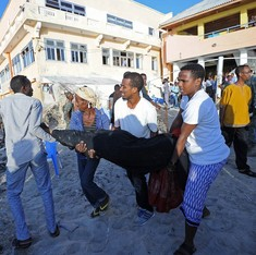 At least 19 dead in blast at Somalia capital restaurant