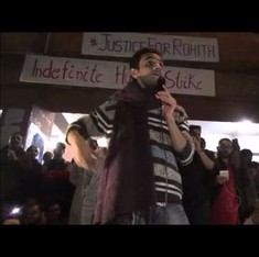 'Just thinking makes you anti-national': Watch Umar Khalid's speech after returning to JNU