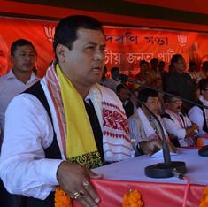Sports minister Sarbananda Sonowal is BJP's chief ministerial candidate for Assam
