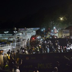 At least 65 dead, more than 300 injured in a suicide bomb blast outside a park in Lahore