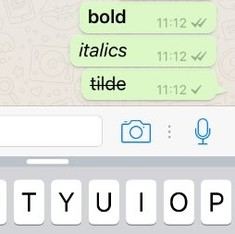 WhatsApp will now let you use bold, italic and strikethrough formatting