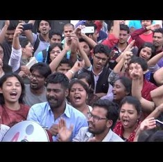 Watch celebrations in JNU after Umar Khalid, Anirban Bhattacharya's release on bail