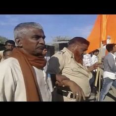 Watch: In Latur a Muslim policeman was assaulted and made to parade with a saffron flag