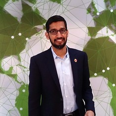 Google's Sundar Pichai received almost $200 million as compensation in 2016