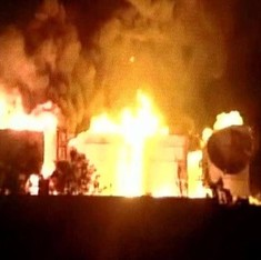 Huge fire breaks out at bio-diesel manufacturing plant in Visakhapatnam