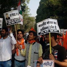 'How dare anyone try to break India into parts?': Photos from ABVP march against 'anti-nationals'