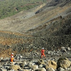 Landslide in Myanmar jade mine buries dozens