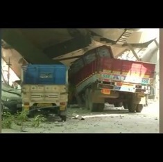 Watch CCTV footage of the exact moment the under-construction flyover in Kolkata collapsed