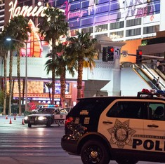 1 dead, 36 injured after driver crashes into crowd in Las Vegas