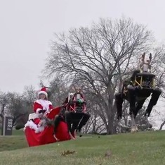 Watch: Four-legged military robots replace reindeers to draw Santa's sleigh