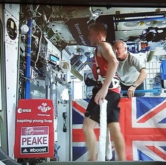 British astronaut Tim Peake completes London  marathon in space, covers 100,000 km as he does it