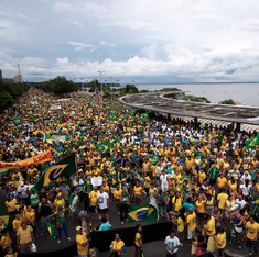 Hundreds of thousands protest for Brazilian President Dilma Rousseff's removal