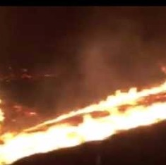 This terrifying video shows you what it's like to drive through a wildfire