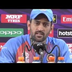 Watch MS Dhoni snap at a journalist for asking if he was satisfied with India's tense victory