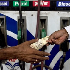 Petrol prices down by Rs 1.42 a litre, diesel costs Rs 2.01 less