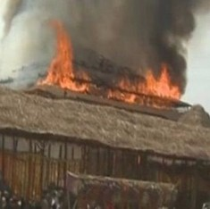 Fire breaks out at Telangana CM's religious ceremony, no casualties