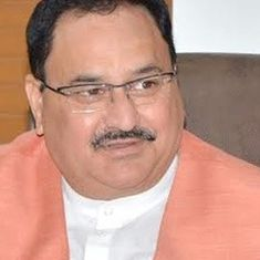 AIIMS Bhopal students throw ink at Health Minister JP Nadda