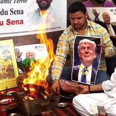 Hindu Sena celebrates Donald Trump's lead in US electoral race