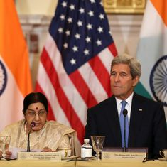 John Kerry arrives in Delhi, will meet Sushma Swaraj during two-day visit