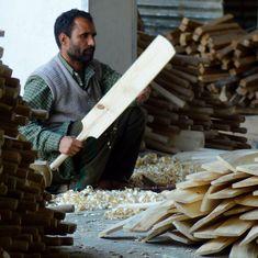 क्यों विश्व कप के बावजूद कश्मीर के मशहूर क्रिकेट बैट का धंधा मंदा है