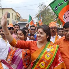 Locket Chatterjee replaces Roopa Ganguly as the president of BJP's women's wing in West Bengal