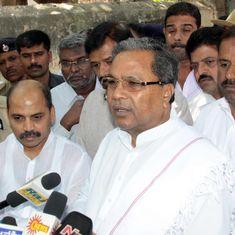 We can't release Cauvery water to Tamil Nadu: Karnataka CM Siddaramaiah tells Palaniswami