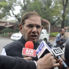 JD(U) petitions Vice President Venkaiah Naidu to disqualify Sharad Yadav