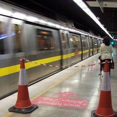 Delhi Metro authority conducts first trial run on the Noida-Greater Noida corridor