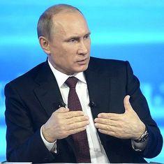 Vladimir Putin denies Russian involvement in Democratic National Committee hack