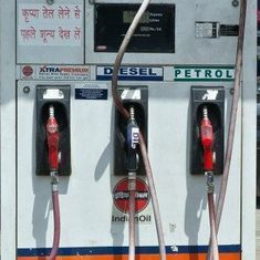 Petrol price hiked by 1 paise a litre, diesel by 44 paise